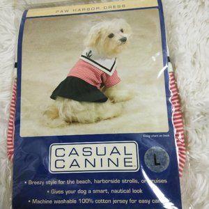 Paw Harbor Dog's Sailor Dress L NWT